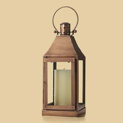 a lantern made by Home Goods