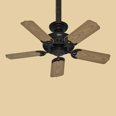 a ceiling fan made by the Hunter Fan Company