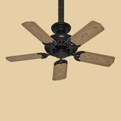 a ceiling fan made by the Hunter Fan Company