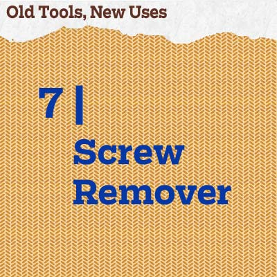 reader tip to save time and money about a screw remover