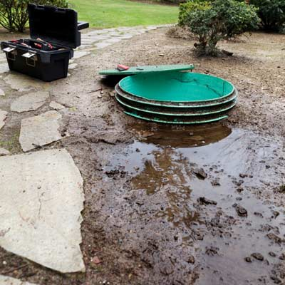 cesspool in front lawn