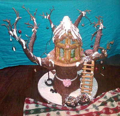 Dendrite-Family-Tree-House 2010 gingerbread house contest finalist