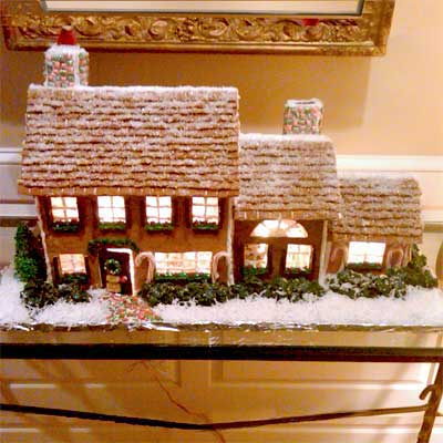 front 2010 gingerbread house contest finalist