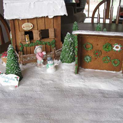 Holiday Tree Farm 2010 gingerbread house contest finalist