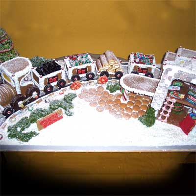 santa express train 2010 gingerbread house contest finalist