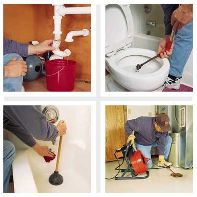 repairing a clogged drain