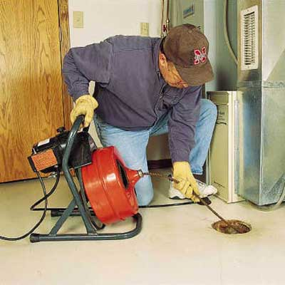 repairing a clogged floor drain