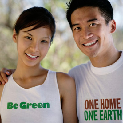 eco-friendly couple