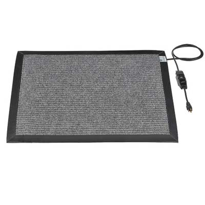 rug-like electric mat to melt snow from the front landing