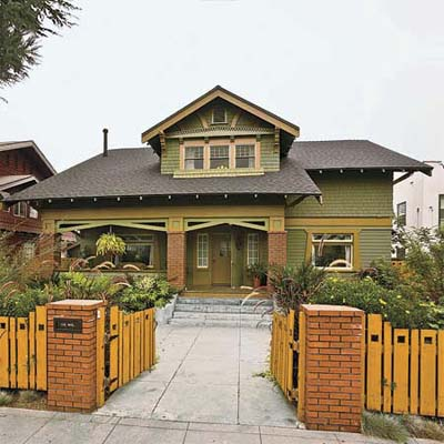 craftsman influenced house in los angeles california's best old house neighborhood