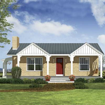 photoshop redesign of this ranch style house