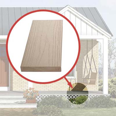 composite decking added to the photoshop redesign of this ranch style house