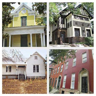 'Save This Old House's' from the past year including (left to right) North carolina, New York, Arkansas and Maryland