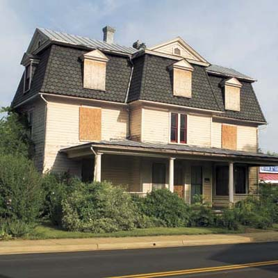 a Second Empire house in Front Royal, Virginia that is due to be demolished