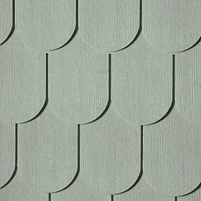 shingle siding in the half-round style