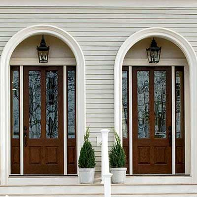 new exterior trim frames this the doors of this second empire remodel