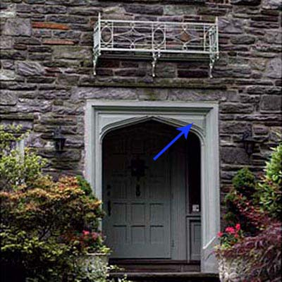 spandrel on front entryway