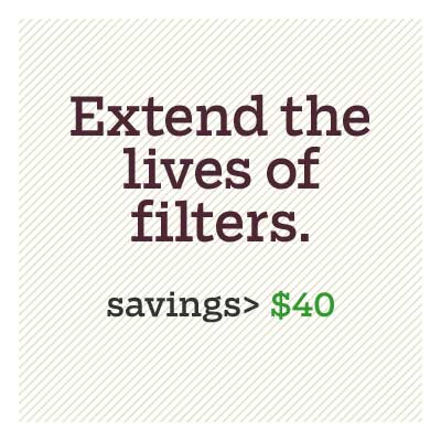 extend the lives of filters for d i y savings