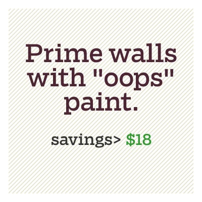 prime walls with oops paint for d i y savings