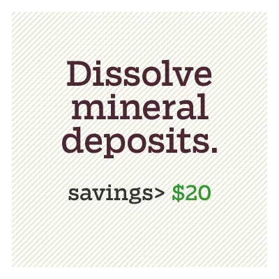 dissolve mineral deposits plugging up your showerhead  for d i y savings