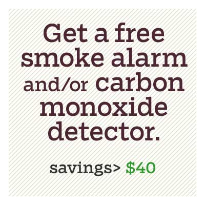 get a free smoke alarm and or carbon monoxide detector for d i y savings
