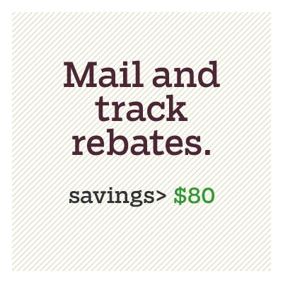 mail and track rebates for d i y savings