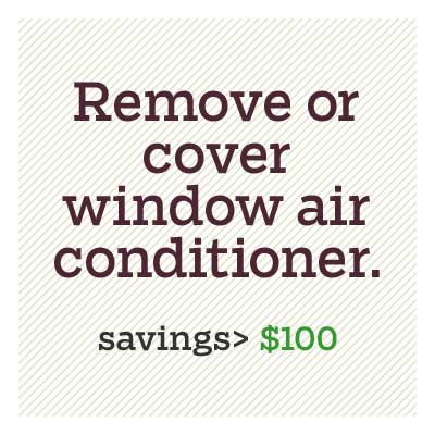 remove or cover window air conditioner for d i y savings