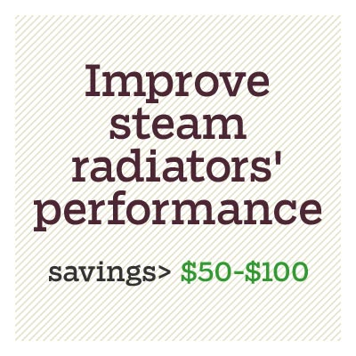improve steam radiators' performance for d i y savings