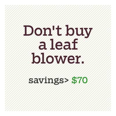don't buy a leaf blower for d i y savings