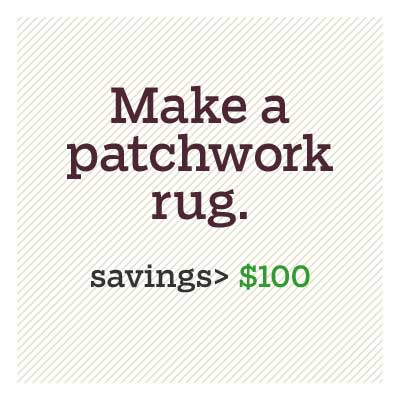 make a patchwork rug for d i y savings