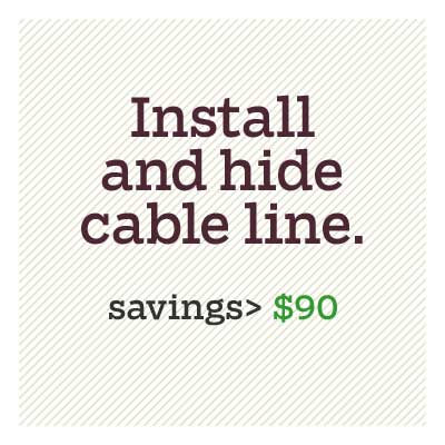 install and hide cable lines for d i y savings