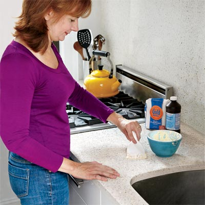 clean food stains in stone counters for d i y savings