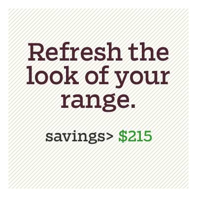refresh the look of your range for d i y savings