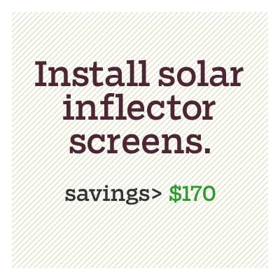 install solar inflector screens for d i y savings