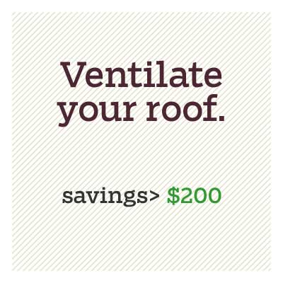 ventilate your roof for d i y savings