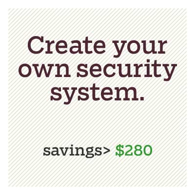 create your own security system for d i y savings