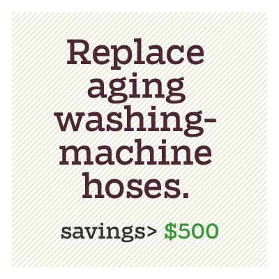 replace aging washing-machine hoses for d i y savings