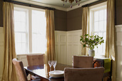 Finished dining room with wainscot panels