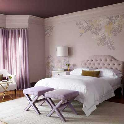 lavender bedroom