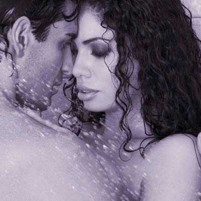 man and woman in shower