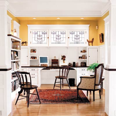 home office with open style