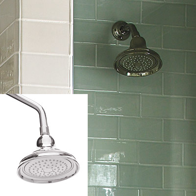 showerhead in stall shower