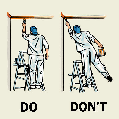illustration of ladder safety