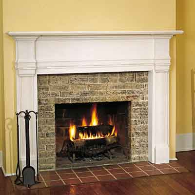 fireplace with installed mantel