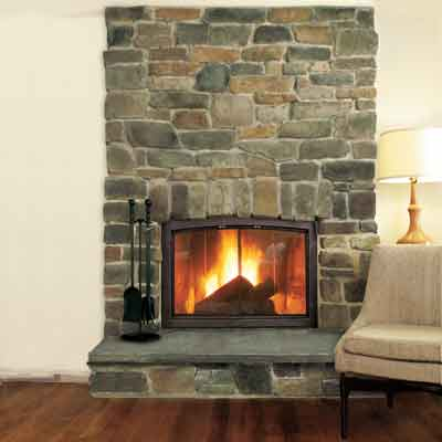 fireplace with stone veneer fireplace surround