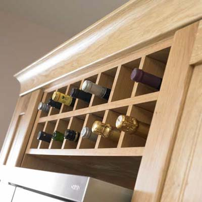 Building A Wine Rack In A Kitchen Cabinet