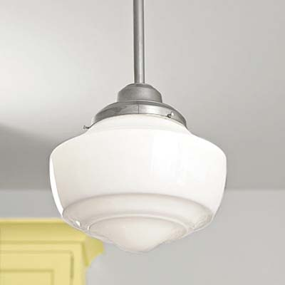 pendant schoolhouse light reproductions used in this remodeled italianate kitchen