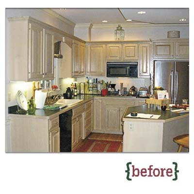 before photo of a redesigned Georgian kitchen