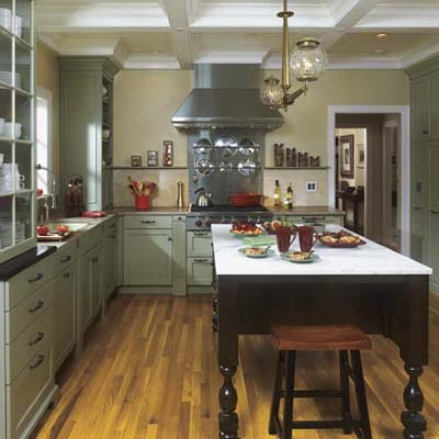 a newly redesigned Georgian wood kitchen