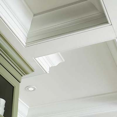 The Coffered Ceiling Same Size Kitchen Fresh Look And
